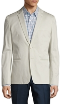 Vince Cotton Sateen Unconstructed Notch Lapel Blazer