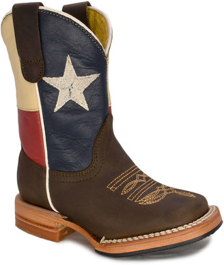 Redhawk Boot Co. Boys' Western Boots LONE - Blue Lone Star Leather Cowboy Boot - Boys