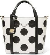 Dolce & Gabbana Dauphine polka-dot textured-leather tote