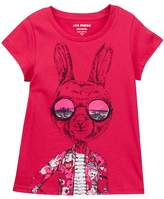 Joe Fresh Short Sleeve Graphic Print Tee (Big Girls)