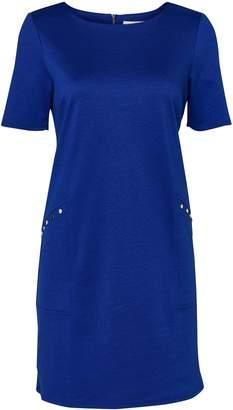 Wallis PETITE Blue Studded Shift Dress