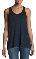 Rag & Bone Twist Back Racerback Tank, Black Heather