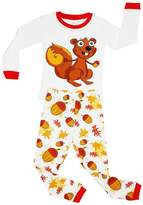 Elowel Pajamas Elowel Girls Chipmunk 2 Piece Pajama Set 100% 12-18 Months