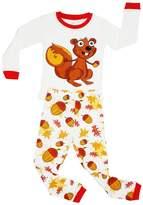 Elowel Pajamas Elowel Girls Chipmunk 2 Piece Pajama Set 100% Size 4