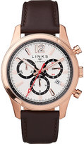 Links of London Greenwich Noon chronograph rose gold-toned watch