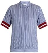 Stella Jean Striped-cotton short-sleeved shirt