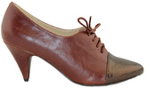 C Label Brown & Bronze Vicky Oxford Pump
