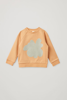 Cos Organic Cotton Splat Print Sweatshirt