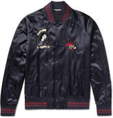Valentino - Embellished Satin Souvenir Jacket