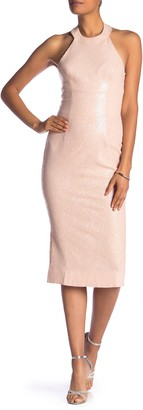 Dress the Population Cassie Sequined Midi Dress