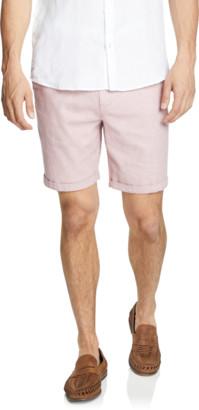 yd. Pink Cullen Linen Blend Short