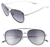 Salt Men's Paragon 55Mm Polarized Aviator Sunglasses - Black Sand/ Matte Black