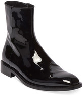 Balenciaga Men's Rim Patent Leather Chelsea Boots