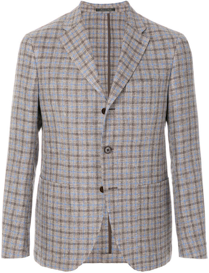 Cantarelli fitted checked jacket