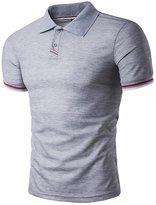 HANYI Mens Summer Turn-down Collar Polo Shirt Tops T-Shirts (M, )