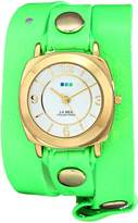La Mer Women's LAMERNEON_4GOLDODYSSEY Neon Green/Gold Odyssey Watch