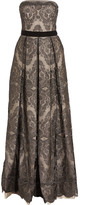 Catherine Deane Gabriella pleated embroidered tulle gown