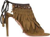 Aquazzura 105mm Pocahontas Fringed Suede Boots