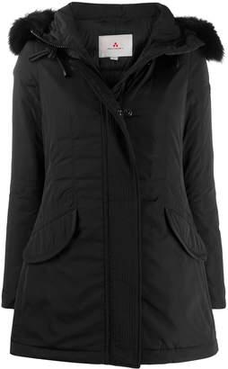 Peuterey fox-fur hooded coat