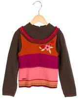 Kenzo Girls' Floral Embroidered Long Sleeve Sweater