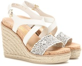 Salvatore Ferragamo Gioela Leather Wedge Espadrilles