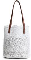 Ella & Elly Women's Totebags White - White Lace & Goldtone Tote