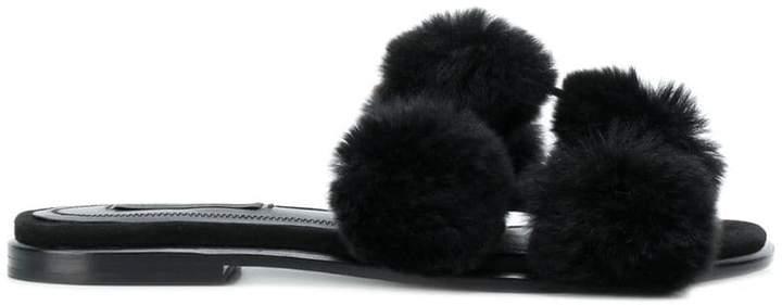 Alexander Wang rabbit fur sandals