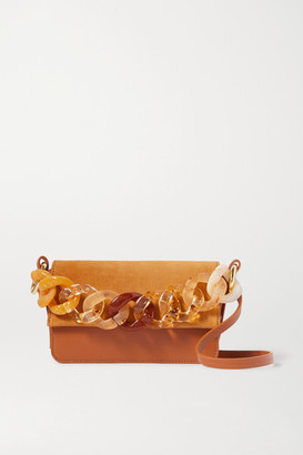 Carolina Santo Domingo Sofia Mini Suede And Leather Shoulder Bag - Tan
