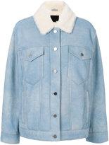 Alexander Wang oversized shearling jacket - women - Lamb Skin/Sheep Skin/Shearling - S