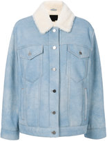 Alexander Wang oversized shearling jacket - women - Lamb Skin/Sheep Skin/Shearling - XS