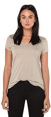 AllSaints Malin Silk Tee (Black) Women's Clothing