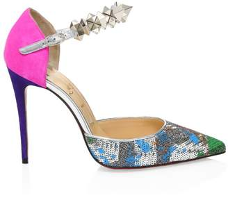 Christian Louboutin Planet Chic Mixed-Media d'Orsay Pumps