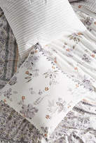 Anthropologie Embroidered Wintertide Euro Sham