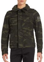 Jet Lag Woven Camouflage Military Jacket