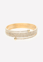 Bebe Crystal Wrap Bracelet