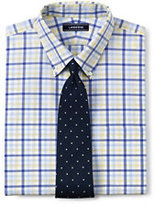 Lands' End Men's Tailored Fit 40s Poplin Dress Shirt-White