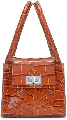 BY FAR Sabrina croc-effect leather tote