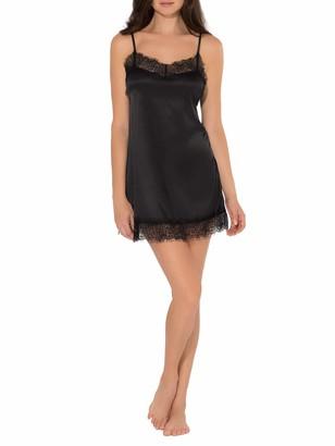 Smart & Sexy Women's Satin & Lace Slip Dress