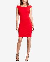 Lauren Ralph Lauren Petite Off-The-Shoulder Jersey Dress