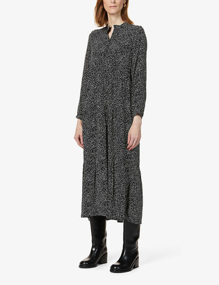 Whistles Sustainable Edit Enora freckle-print crepe dress