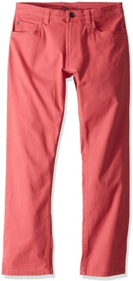 Izod Men's Saltwater 5-Pocket Straight Fit Chino Pant