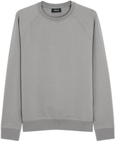 Armani Jeans Ash Embossed Stretch Cotton Sweatshirt