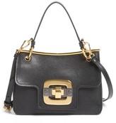 Miu Miu Madras Leather Shoulder Bag - Black