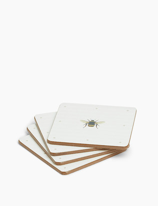 Marks and Spencer Set of 4 Bee Print Coasters
