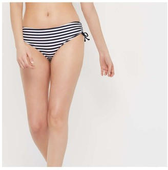 Joe Fresh Unisex Stripe Side Tie Bikini Bottom, Navy (Size M)