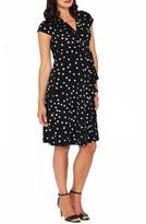 Angel Maternity Women's Dot Ruffle Maternity/nursing Dress