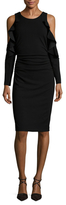 Tracy Reese Flounced Cut Out Sheath Dress