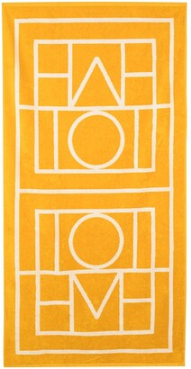 Totême Biarritz monogram-print beach towel