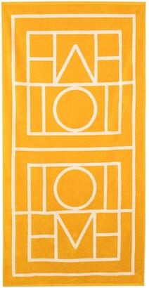 Totême x Browns 50 Biarritz monogram-print beach towel