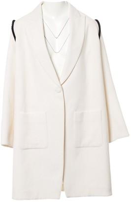 N. Trager Delaney \N White Wool Coats